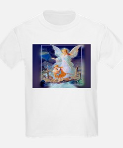Guardian angel with children crossing brid T-Shirt