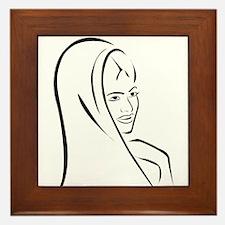 Funny Bindi Framed Tile