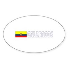Galapagos Islands, Ecuador Oval Decal