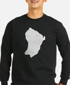 French Guiana Silhouette Long Sleeve T-Shirt
