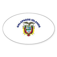 Galapagos Islands, Ecuador Oval Decal