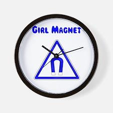 Girl Magnet Wall Clock