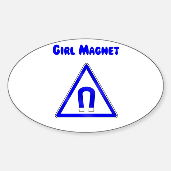 Girl Magnet Oval Decal