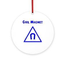 Girl Magnet Ornament (Round)