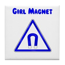 Girl Magnet Tile Coaster