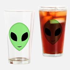 Friendly Alien Head Drinking Glass