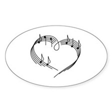 Unique Sheet music guitar tabs Decal