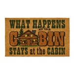 Happens At The Cabin 3x5 Area Rug