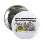 """THE WORD OF GOD (FLOWER) 2.25"""" Button (100 pack)"""