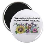 "THE WORD OF GOD (FLOWER) 2.25"" Magnet (100 pack)"