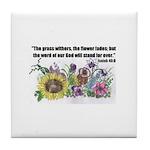 THE WORD OF GOD (FLOWER) Tile Coaster