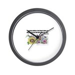 THE WORD OF GOD (FLOWER) Wall Clock