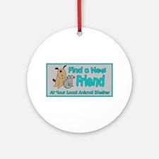 Find a New Friend Ornament (Round)