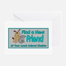 Find a New Friend Greeting Card