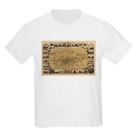 Fresno Antique map Kids Light T-Shirt
