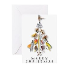 Christmas_flies.png Greeting Cards(pk Of 20)