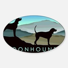 Cute American english coonhound lovers Sticker (Oval)