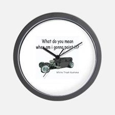 Funny Rat rod Wall Clock