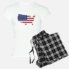 USA Flag Map Pajamas