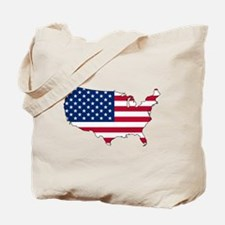 USA Flag Map Tote Bag