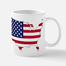 USA Flag Map Mugs