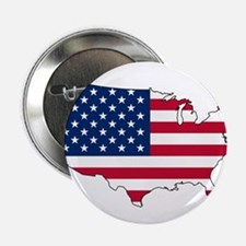 """USA Flag Map 2.25"""" Button (10 pack)"""
