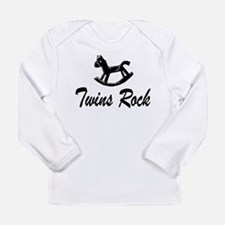 Funny Dad twins Long Sleeve Infant T-Shirt