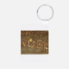 NOEL in leaves and bark Keychains