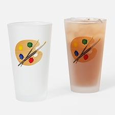 Artist Palette Drinking Glass