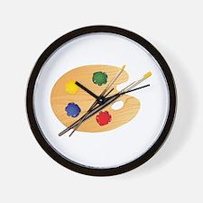 Artist Palette Wall Clock