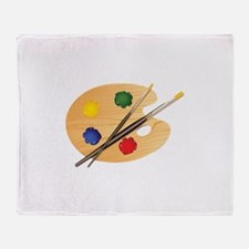 Artist Palette Throw Blanket