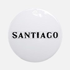 Calle Santiago, Seville, Spain Round Ornament