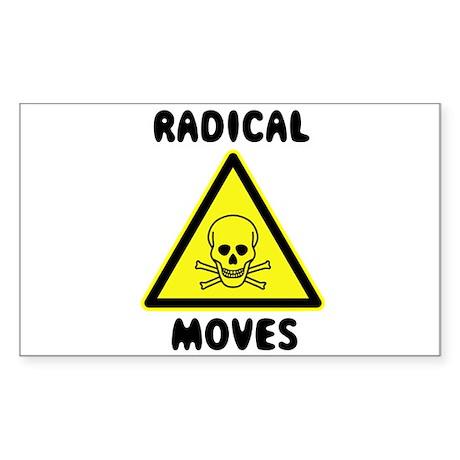 Radical Moves Rectangle Sticker