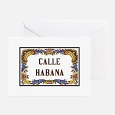 Calle Habana, Havana, Cu Greeting Cards (Pk of 10)