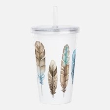 Unique Brown Acrylic Double-wall Tumbler