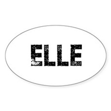 Elle Oval Decal