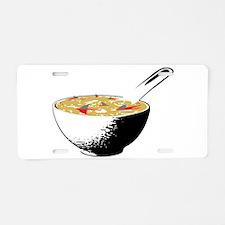 shark fin soup Aluminum License Plate