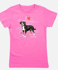 Cute Entlebucher Girl's Tee
