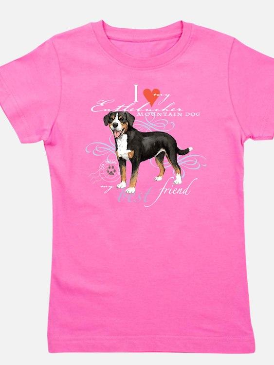 Cute Entlebucher sennenhund Girl's Tee