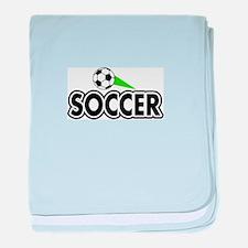 Soccer Swoosh baby blanket