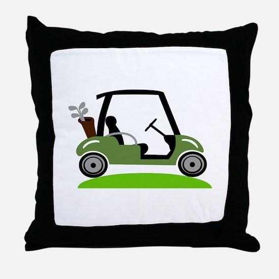 Golf Cart Throw Pillow