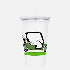 Golf Cart Acrylic Double-wall Tumbler