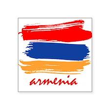 """Funny Armenia t Square Sticker 3"""" x 3"""""""