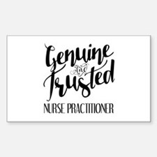 Nurse Practitioner Genuine and Decal