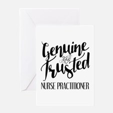 Nurse Practitioner Genuine and Trust Greeting Card