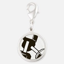 Fitness Dumbbells Charms