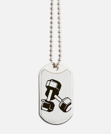 Fitness Dumbbells Dog Tags