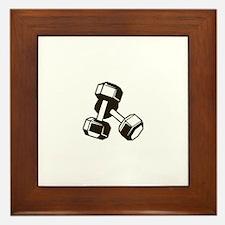 Fitness Dumbbells Framed Tile
