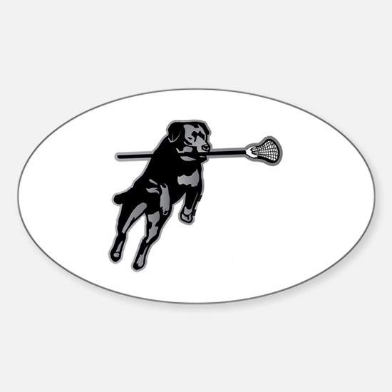 Lax Dog Decal