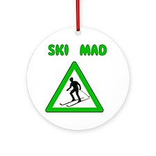 Ski Mad Ornament (Round)